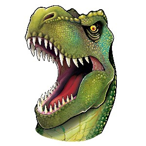 DINOSAUR CUTOUT HEAD 34INCH