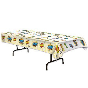 SUPER HERO TABLECLOTH