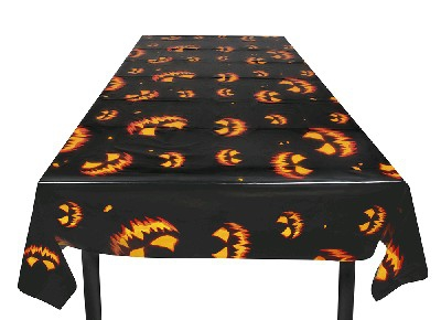 CREEPY PUMPKIN TABLECOVER 120 x 180cM