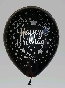 LATEX PRINTED HAPPY BIRTHDAY WITH SILVER METALIC 5