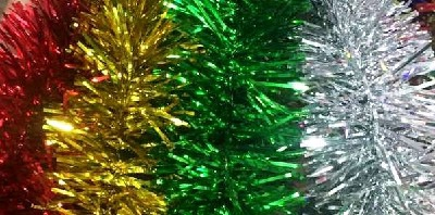 CHRISTMAS TINSEL 2M ASSORTED