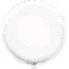 18 INCH FOIL ROUND BALLOON WHITE
