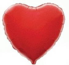 18 INCH FOIL DÉCOR STAR RED HEART