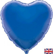18 INCH FOIL HEART BALLOON BLUE