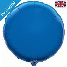 18 INCH FOIL ROUND BLUE