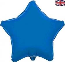 19 INCH FOIL STAR BALLOON BLUE