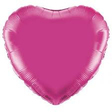 18 INCH FOIL HEART BALLOON FUSCHIA