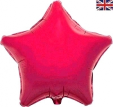 19 INCH FOIL STAR PINK