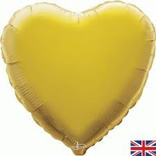 18 INCH FOIL HEART BALLOON GOLD