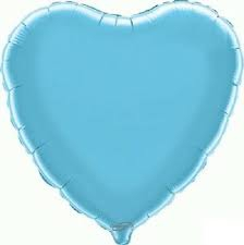 18 INCH FOIL HEART BALLOON LIGHT BLUE