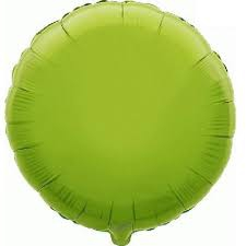 18 INCH FOIL ROUND BALLOON LIME GREEN