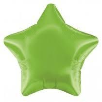 19 INCH FOIL STAR BALLOON LIME GREEN