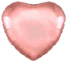 18 INCH FOIL HEART BALLOON ROSE GOLD