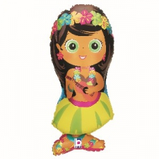 34 INCH FOIL HULA GIRL BALLOON