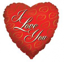 18 INCH FOIL I LOVE YOU BALLOON 24K