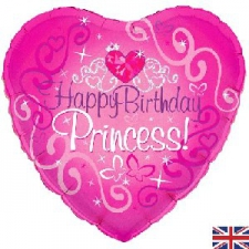 18 INCH FOIL HAPPY BIRTHDAY BALLOON PRINCESS DESIG