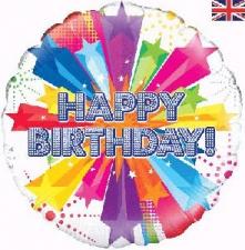18 INCH FOIL HAPPY BIRTHDAY BALLOON STAR DESIGN