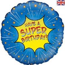 18 INCH FOIL HAPPY BIRTHDAY SUPERHERO BALLOON DESI