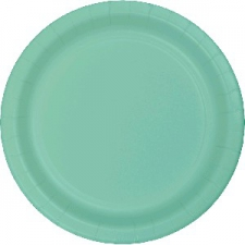 SOLID COLOUR FRESH MINT PLATES 7 INCH