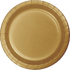 SOLID COLOUR GOLD PLATES 9inch