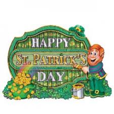 ST PATRICKS DAY CO DAY SIGN 11.5