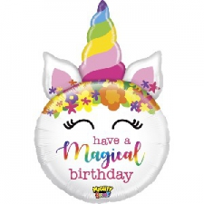 33 INCH FOIL UNICORN BALLOON MAGICAL BIRTHDAY