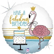 18 INCH FOIL FABULOUS PARTY FLAMINGO BALLOON