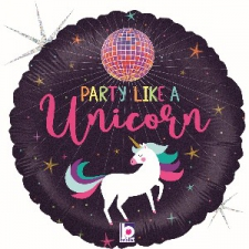18 INCH FOIL UNICORN BALLOON PARTY LIKE A