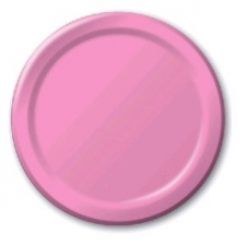 SOLID COLOUR CANDY PINK PLATES 7