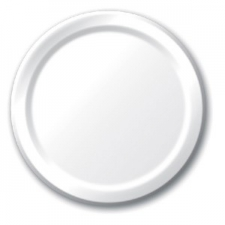 SOLID COLOUR WHITE PLATES 7
