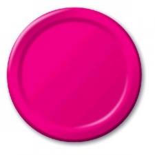 SOLID COLOUR HOT MAGENTA PLATES 7