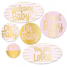BABY CUTOUTS PINK 6S