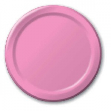 SOLID COLOUR CANDY PINK PLATES 9