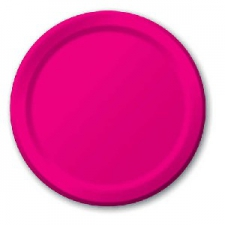 SOLID COLOUR HOT MAGENTA PLATES 9