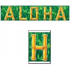 HULA BANNER ALOHA 10INCH X 4FOOT