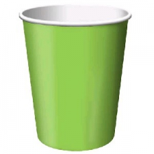 SOLID COLOUR FRESH LIME CUPS 8`S