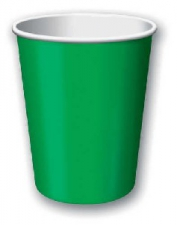 SOLID COLOUR EMARALD GREEN CUPS
