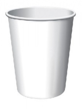 SOLID COLOUR WHITE CUPS