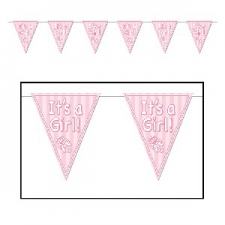 BABY BUNTING FLAGS ITS A GIRL