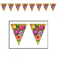 HULA BUNTING FLAGS FLOWERS