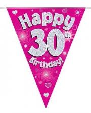 BUNTING HAPPY 30TH BIRTHDAY PINK