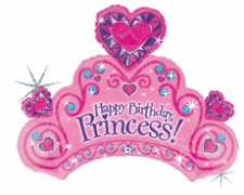 34 INCH FOIL PRINCESS TIARRA BALLOON