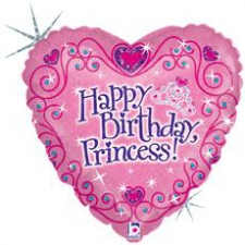 18 INCH FOIL HAPPY BIRTHDAY BALLOON PRINCESS