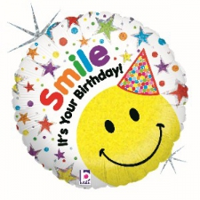 18 INCH FOIL HAPPY BIRTHDAY BALLOON SMILE ITS YOUR
