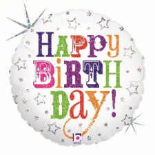 18 INCH FOIL HAPPY BIRTHDAY BALLOON GREETINGS FONT