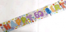 BANNER HAPPY BIRTHDAY 60TH UNISEX
