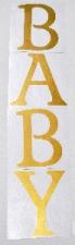 BALLOON STICKER BABY GOLD