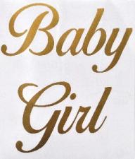 BALLOON STICKER BABY GIRL GOLD 10'S