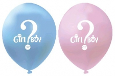 LATEX PRINTED BABY REVEAL BALLOONS 50'S