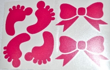 BALLOON STICKER BABY GIRL ACCS 1's